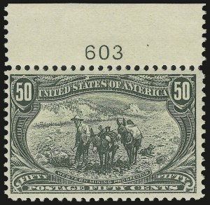 Sale Number 946, Lot Number 788, 1898 Trans-Mississippi Issue (Scott 285-293)50c Trans-Mississippi (291), 50c Trans-Mississippi (291)
