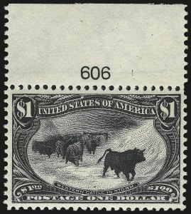 Sale Number 946, Lot Number 795, 1898 Trans-Mississippi Issue (Scott 285-293)$1.00 Trans-Mississippi (292), $1.00 Trans-Mississippi (292)