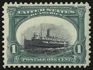 Sale Number 946, Lot Number 811, 1901 Pan-American Issue (Scott 294-299)1c Pan-American (294), 1c Pan-American (294)