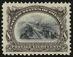 Sale Number 946, Lot Number 827, 1901 Pan-American Issue (Scott 294-299)8c Pan-American (298), 8c Pan-American (298)