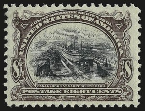 Sale Number 946, Lot Number 828, 1901 Pan-American Issue (Scott 294-299)8c Pan-American (298), 8c Pan-American (298)