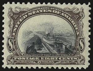 Sale Number 946, Lot Number 830, 1901 Pan-American Issue (Scott 294-299)8c Pan-American (298), 8c Pan-American (298)