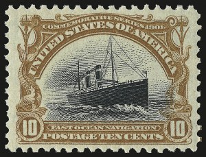 Sale Number 946, Lot Number 834, 1901 Pan-American Issue (Scott 294-299)10c Pan-American (299), 10c Pan-American (299)