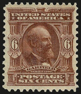 Sale Number 946, Lot Number 843, 1902-08 Issues (Scott 300-322)6c Claret (305), 6c Claret (305)