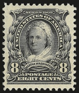 Sale Number 946, Lot Number 844, 1902-08 Issues (Scott 300-322)8c Violet Black (306), 8c Violet Black (306)