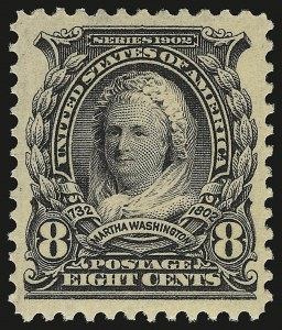 Sale Number 946, Lot Number 845, 1902-08 Issues (Scott 300-322)8c Violet Black (306), 8c Violet Black (306)