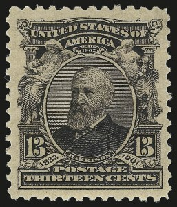 Sale Number 946, Lot Number 846, 1902-08 Issues (Scott 300-322)13c Purple Black (308), 13c Purple Black (308)