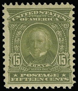 Sale Number 946, Lot Number 847, 1902-08 Issues (Scott 300-322)15c Olive Green (309), 15c Olive Green (309)