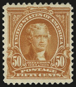 Sale Number 946, Lot Number 850, 1902-08 Issues (Scott 300-322)50c Orange (310), 50c Orange (310)