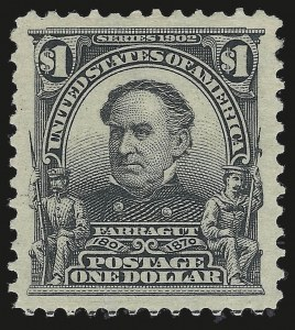 Sale Number 946, Lot Number 851, 1902-08 Issues (Scott 300-322)$1.00 Black (311), $1.00 Black (311)