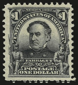 Sale Number 946, Lot Number 853, 1902-08 Issues (Scott 300-322)$1.00 Black (311), $1.00 Black (311)