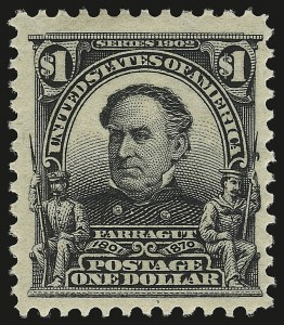 Sale Number 946, Lot Number 854, 1902-08 Issues (Scott 300-322)$1.00 Black (311), $1.00 Black (311)