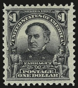 Sale Number 946, Lot Number 855, 1902-08 Issues (Scott 300-322)$1.00 Black (311), $1.00 Black (311)