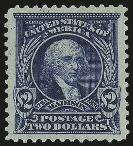 Sale Number 946, Lot Number 859, 1902-08 Issues (Scott 300-322)$2.00 Dark Blue (312), $2.00 Dark Blue (312)