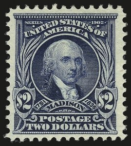 Sale Number 946, Lot Number 860, 1902-08 Issues (Scott 300-322)$2.00 Dark Blue (312), $2.00 Dark Blue (312)