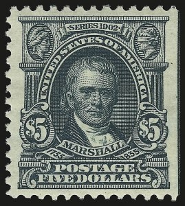 Sale Number 946, Lot Number 864, 1902-08 Issues (Scott 300-322)$5.00 Dark Green (313), $5.00 Dark Green (313)
