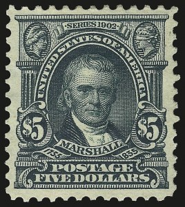 Sale Number 946, Lot Number 865, 1902-08 Issues (Scott 300-322)$5.00 Dark Green (313), $5.00 Dark Green (313)