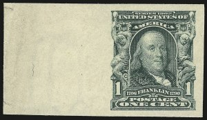 Sale Number 946, Lot Number 872, 1902-08 Issues (Scott 300-322)1c Blue Green, Imperforate (314), 1c Blue Green, Imperforate (314)