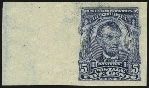 Sale Number 946, Lot Number 873, 1902-08 Issues (Scott 300-322)5c Blue, Imperforate (315), 5c Blue, Imperforate (315)