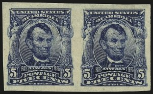 Sale Number 946, Lot Number 880, 1902-08 Issues (Scott 300-322)5c Blue, Imperforate (315), 5c Blue, Imperforate (315)