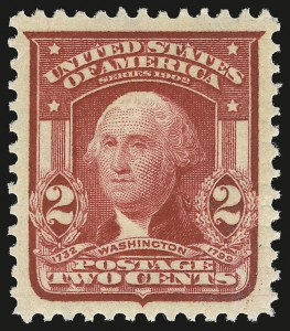Sale Number 946, Lot Number 886, 1902-08 Issues (Scott 300-322)2c Carmine, Ty. I (319), 2c Carmine, Ty. I (319)