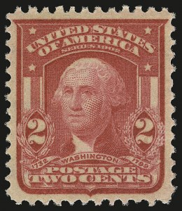 Sale Number 946, Lot Number 887, 1902-08 Issues (Scott 300-322)2c Carmine Rose, Ty. I (319b), 2c Carmine Rose, Ty. I (319b)