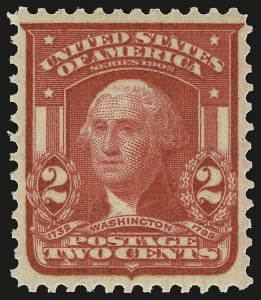 Sale Number 946, Lot Number 888, 1902-08 Issues (Scott 300-322)2c Scarlet, Ty. I (319c), 2c Scarlet, Ty. I (319c)