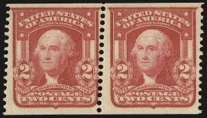 Sale Number 946, Lot Number 891, 1902-08 Issues (Scott 300-322)2c Scarlet, International Vending Machine Co. Coil (320b var), 2c Scarlet, International Vending Machine Co. Coil (320b var)