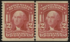 Sale Number 946, Lot Number 893, 1902-08 Issues (Scott 300-322)2c Carmine, Coil (322), 2c Carmine, Coil (322)
