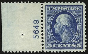 Sale Number 946, Lot Number 972, 1910-13 Washington-Franklin Issue (Scott 374-396)5c Blue (378), 5c Blue (378)
