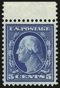 Sale Number 946, Lot Number 973, 1910-13 Washington-Franklin Issue (Scott 374-396)5c Blue (378), 5c Blue (378)