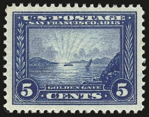 Sale Number 946, Lot Number 998, 1913-15 Panama-Pacific Issue (Scott 397-404)5c Panama-Pacific (399), 5c Panama-Pacific (399)