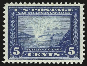 Sale Number 946, Lot Number 999, 1913-15 Panama-Pacific Issue (Scott 397-404)5c Panama-Pacific (399), 5c Panama-Pacific (399)