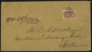 Sale Number 947, Lot Number 20, Baltimore Carrier Department IssuesBaltimore Md., 1c Red on Bluish (1LB1), Baltimore Md., 1c Red on Bluish (1LB1)