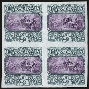 Sale Number 948, Lot Number 411, 1869 Pictorial Issue Essays and Proofs24c Green & Violet, Plate Proof on India (120P3), 24c Green & Violet, Plate Proof on India (120P3)