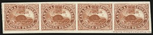 Sale Number 949, Lot Number 1024, Canada1851-64, 3p Red, Plate Proof (1P), 1851-64, 3p Red, Plate Proof (1P)