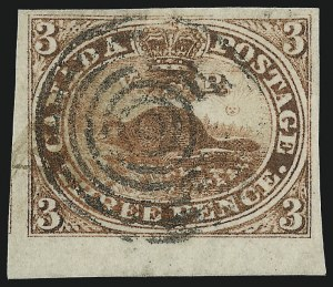 Sale Number 949, Lot Number 1028, Canada1852, 3p Red (4), 1852, 3p Red (4)