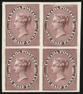Sale Number 949, Lot Number 1035, Canada1851-64, -1/2p Rose, Plate Proof (8P), 1851-64, -1/2p Rose, Plate Proof (8P)