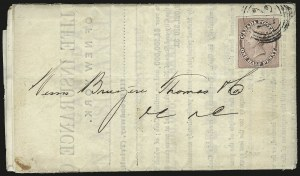 Sale Number 949, Lot Number 1036, Canada1857, -1/2p Rose (8), 1857, -1/2p Rose (8)