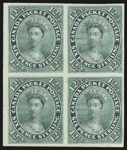 Sale Number 949, Lot Number 1037, Canada1859-67, 10c Lilac, 12-1/2c Blue Green, Trial Color Plate Proofs (17TC, 18TC), 1859-67, 10c Lilac, 12-1/2c Blue Green, Trial Color Plate Proofs (17TC, 18TC)