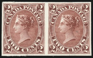 Sale Number 949, Lot Number 1038, Canada1859-67, 2c Dark Rose, Claret, Trial Color Plate Proofs 20TC, 20TCi), 1859-67, 2c Dark Rose, Claret, Trial Color Plate Proofs 20TC, 20TCi)