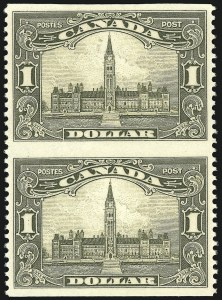Sale Number 949, Lot Number 1063, Canada1928-29, 1c-$1.00 Commemoratives, Vertical Pairs, Imperforate Horizontally (Unitrade 149ii-159ii), 1928-29, 1c-$1.00 Commemoratives, Vertical Pairs, Imperforate Horizontally (Unitrade 149ii-159ii)