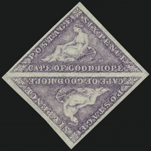 Sale Number 949, Lot Number 1090, Cape of Good Hope1863-64, 6p Purple (14; SG20), 1863-64, 6p Purple (14; SG20)