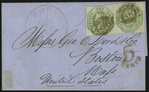 Sale Number 949, Lot Number 1140, Great Britain1847, 1sh Green (5; SG 54), 1847, 1sh Green (5; SG 54)