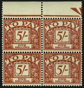 Sale Number 949, Lot Number 1148, Great Britain1955, 5sh Red on Yellow (J54), 1955, 5sh Red on Yellow (J54)