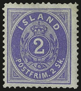 Sale Number 949, Lot Number 1155, Guatemala thru IndochinaICELAND, 1873, 2sk Ultramarine (1), ICELAND, 1873, 2sk Ultramarine (1)