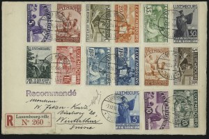Sale Number 949, Lot Number 1211, Korea thru MauritiusLUXEMBOURG, 1935, 5c-20fr Semi-Postals (B65A-B65Q), LUXEMBOURG, 1935, 5c-20fr Semi-Postals (B65A-B65Q)