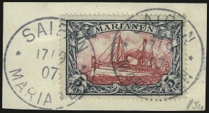 Sale Number 949, Lot Number 1212, Korea thru MauritiusMARIANA ISLANDS, 1901, 5m Slate and Carmine (29; Michel 19), MARIANA ISLANDS, 1901, 5m Slate and Carmine (29; Michel 19)