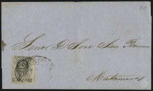 Sale Number 949, Lot Number 1218, MexicoMEXICO, 1861, 2r Black on Pink (8), MEXICO, 1861, 2r Black on Pink (8)