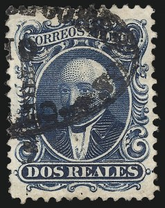 Sale Number 949, Lot Number 1219, MexicoMEXICO,1864, 2r Blue (15), MEXICO,1864, 2r Blue (15)